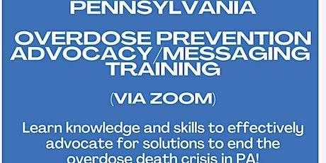 Pennsylvania Overdose Prevention Advocacy &  Messaging Training (virtual) tickets