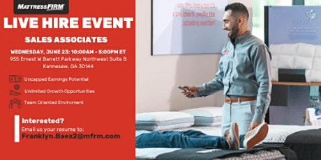 Live Hire Event - Kennesaw and Surrounding Areas tickets