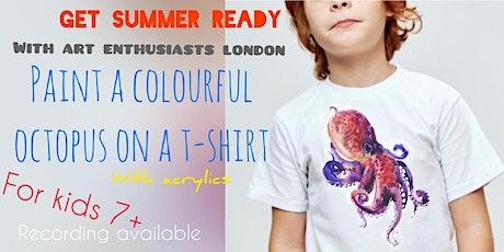 Paint Your Own T-shirt - Art Webinar for Kids 7+ tickets