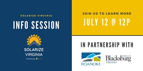 Solarize Virginia Info Session tickets