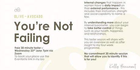 You're Not Failing - Taster tickets