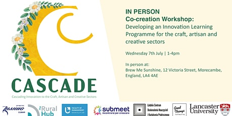 IN PERSON Co-creation Workshop:  Innovation Programme for Creative Sectors tickets