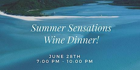 Summer Sensations Wine Dinner tickets