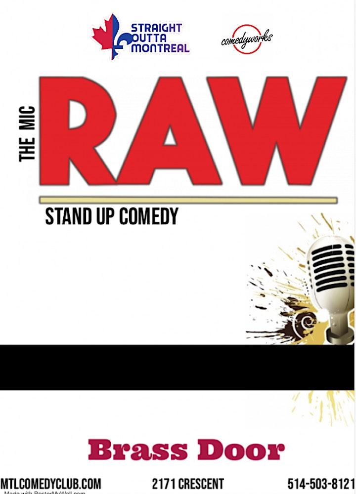 RAW ( Stand-Up Comedy ) MTLCOMEDYCLUB.COM image