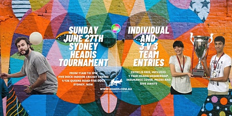 Play the new PARTY sport - Headis - Free Tournament Entry - Register Now! tickets