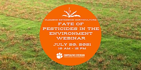 Fate of Pesticides in the Environment tickets