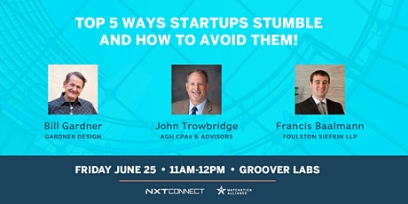 Top 5 Ways Startups Stumble – And How to Avoid Them! tickets