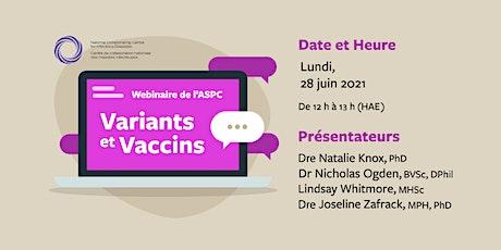 ASPC : Webinaire sur les Variants et Vaccins billets