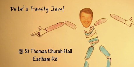Copy of Pete's Family Jam (Indoor) @ St Thomas' Church Hall - June 14th tickets