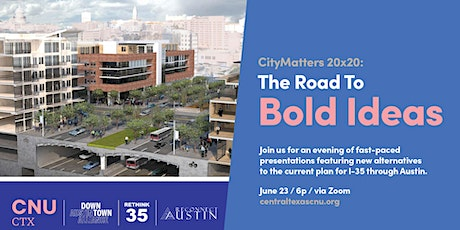 CityMatters 20x20:  The Road to Bold Ideas tickets