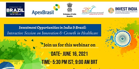 Webinar on Investment Opportunities inIndia & Brazil:  Interactive Session tickets