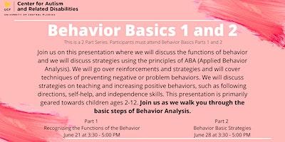 Behavior Basics: Recognizing the Functions of the Behavior #3684