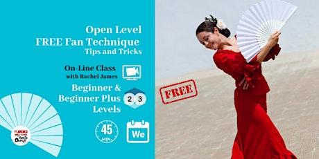 Free Flamenco Fan Class - Multilevel Technique tickets