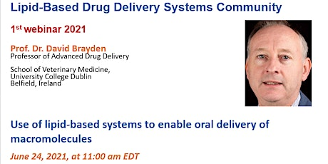Use of lipid-based systems to enable oral delivery of macromolecules tickets