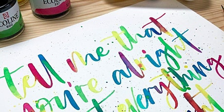 Watercolour Blending & Calligraphy with Blink Lettering tickets
