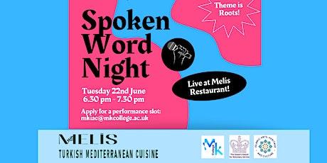 Spoken Word Night in Milton Keynes; Roots tickets