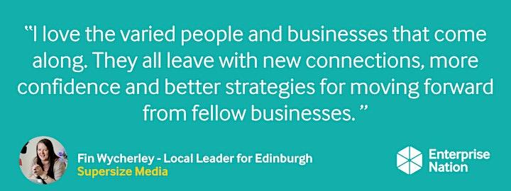 Online small business meet-up: Edinburgh image