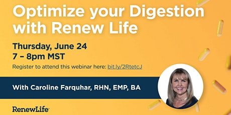 Optimize your Digestion with Renew Life tickets