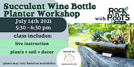 Wine Bottle Planter Workshop at AYO Social Wine Bar tickets