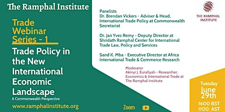 Commonwealth Trade Policy in the New International Economic Landscape tickets