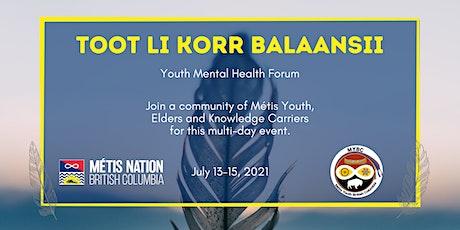 Toot Li Korr Balaansii - Youth Mental Health Forum tickets