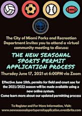 Virtual Community Meeting:  New Seasonal Sports Permit Application Process tickets