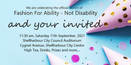 Launch of Fashion for Ability - Not Disability tickets