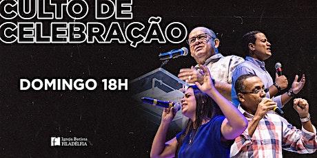 Culto de Celebração 13/06/2021 Noite - 18h ingressos