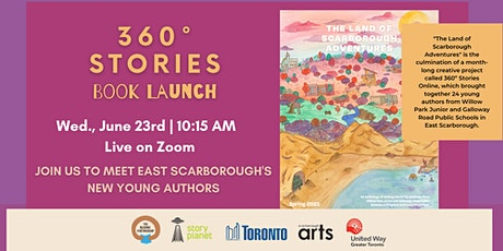 """360º Stories Book Launch: """"The Land of Scarborough Adventures"""" tickets"""