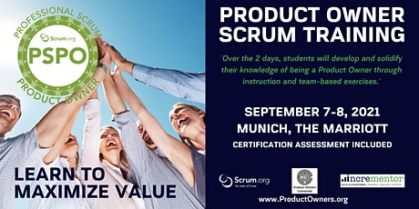 Certified Training   Professional Scrum Product Owner (PSPO) Tickets