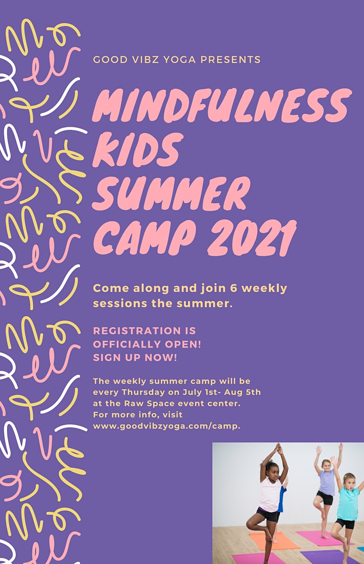 Ready Set Yoga! Weekly summer camp for kids image