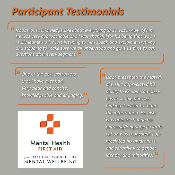 $75 - Virtual Mental Health First Aid Course image