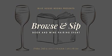 Book & Wine Pairing tickets