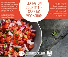 Lexington County 4-H Canning Workshop tickets