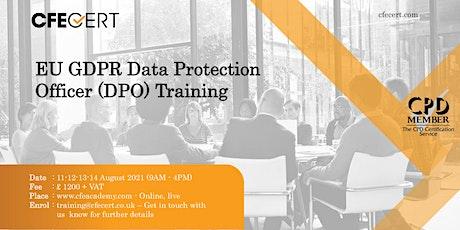 EU GDPR Data Protection Officer (DPO) Training tickets