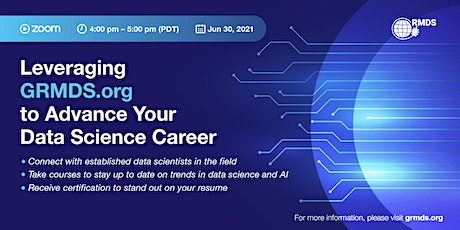 Leveraging GRMDS.org to Advance Your Data Science Career tickets