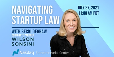 Navigating Startup Law with Becki DeGraw