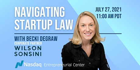Navigating Startup Law with Becki DeGraw tickets