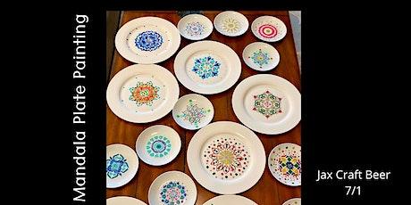 Mandala Plate Painting at Jax Craft Beer! tickets