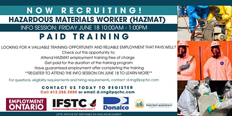 HAZMAT Recruitment Event - PAID TRAINING OPPORTUNITY tickets