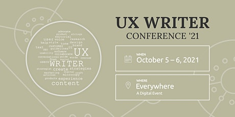 The UX Writer Conference tickets
