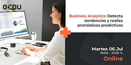 Business Analytics: Detecta tendencias y realiza pronósticos predictivos. entradas