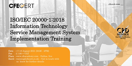 ISO/IEC 20000-1:2018 ITSMS  Implementation  Training tickets