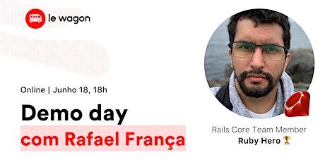 Demo Day com Rafael França | Venha ver os aplicativos web dos estudantes! tickets