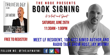 The Nook Presents:  Author, Jay Maymi, Book Signing/Meet & Greet tickets