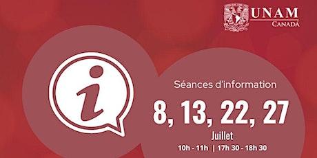 Séances d'information  | Automne 2021 |  Cours d'espagnol et culture biglietti
