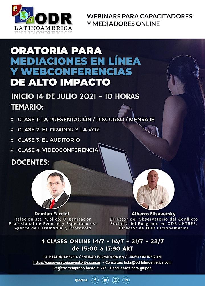 Oratoria para mediaciones en línea y webconferencias de alto impacto image
