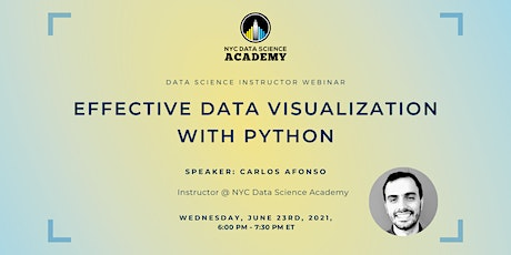 NYC Data Science Academy | Effective Data Visualization with Python tickets