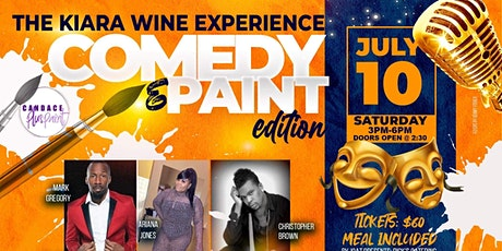 The Kiara Wine Experience: Comedy & Paint Edition tickets