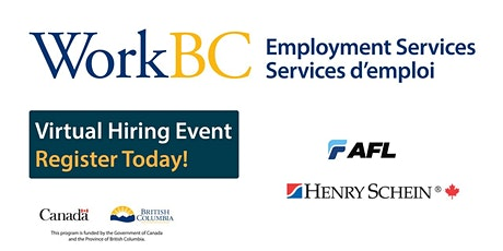 WorkBC SSWR/Cloverdale virtual hiring event with AFL and Henry Schein tickets